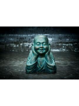 Flotando cabeza de Buda en el stand