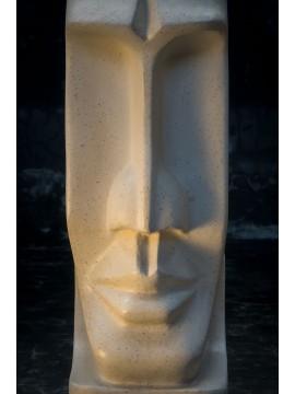 Moai Isla de Pascua blanco Cabeza de terrazo