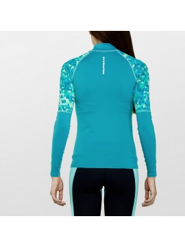 lycra MANGA LARGA RASH GUARD MUJERES