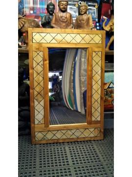 Espejo en marco de madera nativa de Bali 120x180