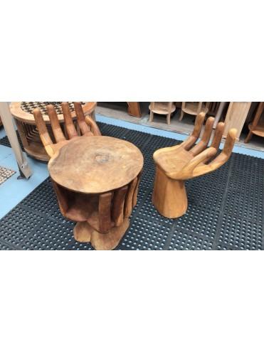 Juego de mesa y silla Palma de mano