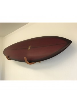 Estante de pared de madera para tabla de surf individual