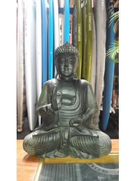 Buda Thai Negro de Madera, Altura 40 Cm