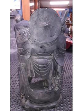 Buda Happy Negro de Madera, Altura 85 Cm