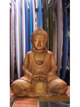 Buda Thai de Madera, Altura 40 Cm