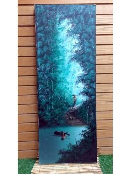 Oleo en tela Bali 120 x 45 cm