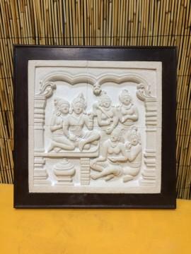 Cuadro de piedra en marco de madera Bali