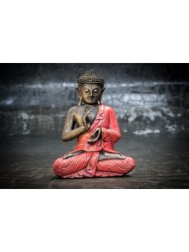 Budai con las manos cruzadas sobre el pecho